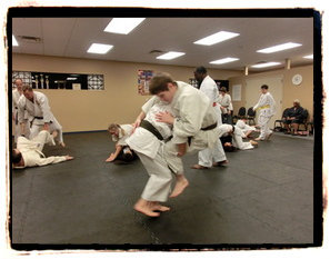 karate class peaceful warrior martial arts